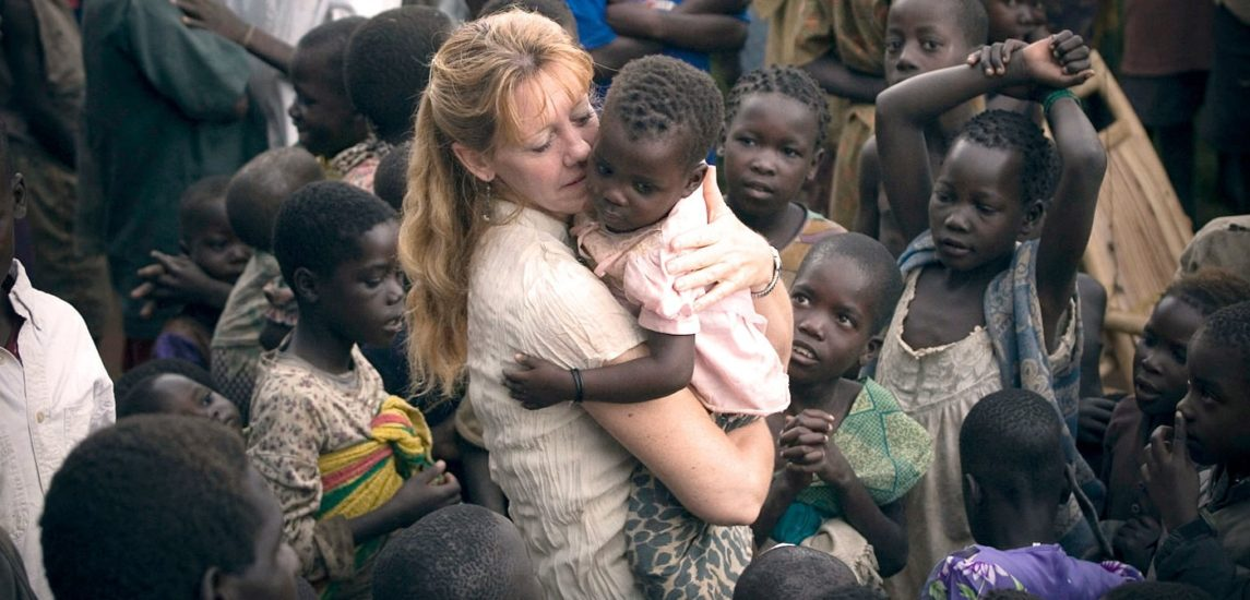 Carole in the internment camps during the war in northern Uganda.