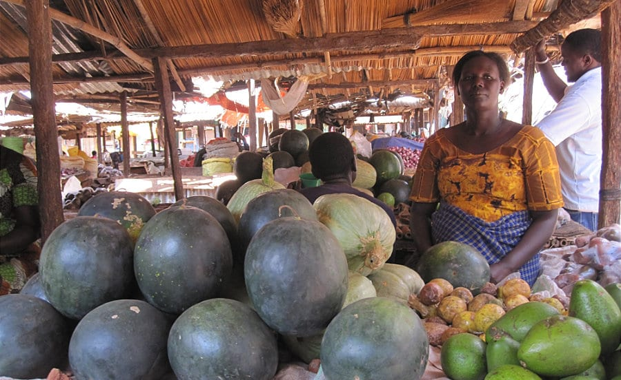 Uganda Woman Selling Fruit