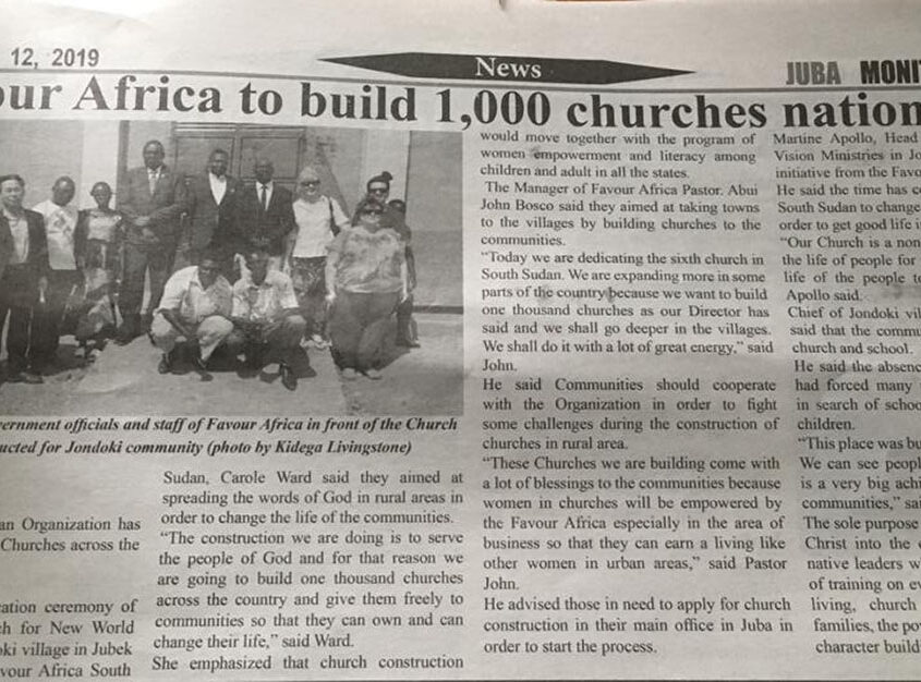 newspaper article carole church building