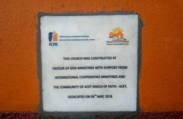 favor plaque construction church